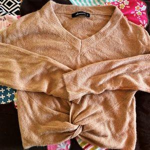 Boutique Knit Twist Sweater